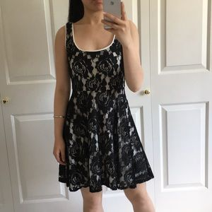 love...ady - Black & White Lace Dress